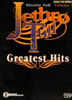 Jethro Tull Electric Volume 1 Guitar Tab Tablature Song Book Sheet