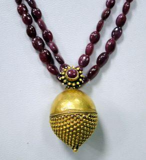 Ruby VTJ EHS Gold Necklace Ethnic Tribal ERT EHS Jewelry