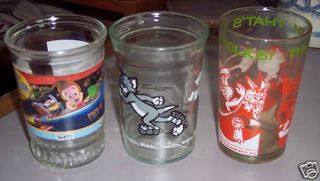 Older Collectible Welchs Jam Jars Porky Jimmy Neutron Tom Jerry