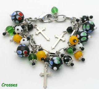 Halloween Glass Dangle Charm Bracelet Jewelry 6 Styles