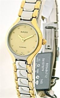 Ladies Rado Florence Classic Watch R48759253 Two Tone Gold Dial