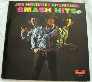 Jimi Hendrix Experience Smash Hits LP Record Album