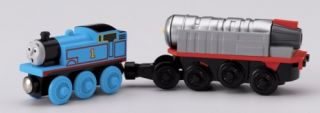Friends Wooden Railway Battery Operated Jet Engine and Thomas