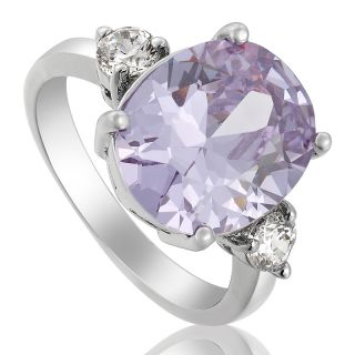 Purple Tanzanite White 18K Gold Plated Lady Ring Jewelry 6 M P0