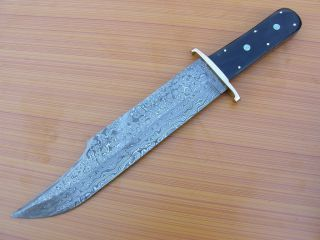Custom Made Damascus Steel Full Tang Alamo Jim Bowie Knife
