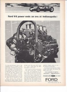 1963 Lotus 29 Ford V 8 Ad Indy 500 Jim Clark