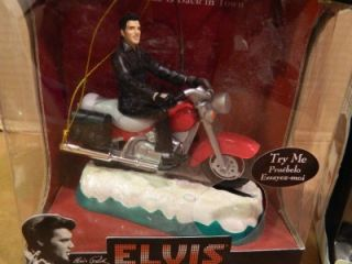 Elvis Presley Musical Christmas Ornaments Jukebox Motorcycle