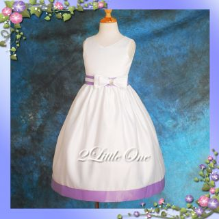 LIMITED OFFER White Wedding Flower Girls Pageant Party Dress Sz 2T 3T