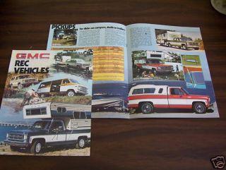 1976 GMC Pickup Van Suburban Jimmy Campers Brochure