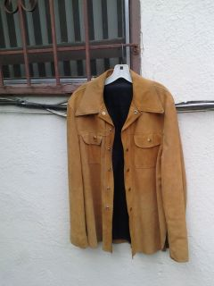 Vintage Jo o Kay Suede Leather Jacket 6 Snap Button Front / 2 Pockets