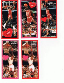 Michael Jordan Valentines Cards Jump Inc 9 Total Cards