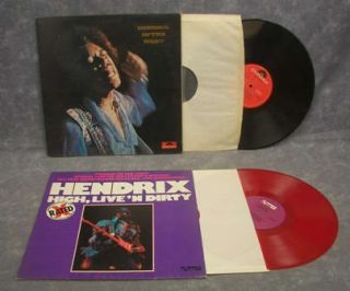 Lot of 14 Jimi Hendrix Vinyl Record Albums