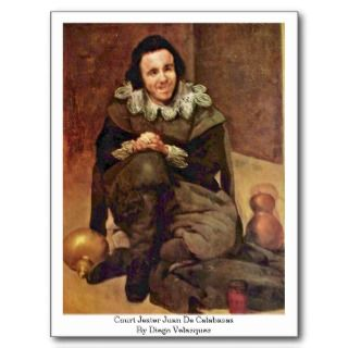 Court Jester Juan De Calabazas By Diego Velazquez Post Card