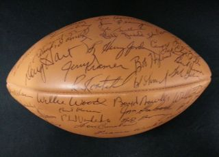 1968 Green Bay Packers Team Signed Football 48 Sigs 7 Hall of Famers