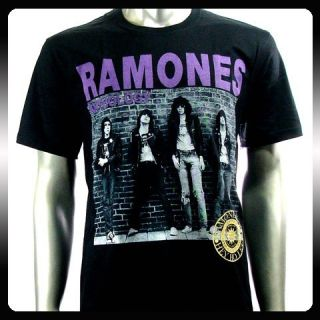 Ramones American Punk Metal Rock Band Men T Shirt Sz M RAM21