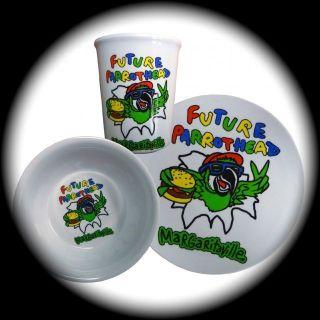 Jimmy Buffett MARGARITAVILLE Infant Future Parrothead 3 Piece Dish Set