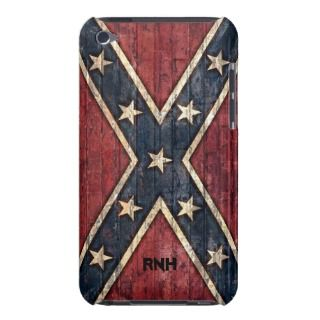 Redneck Confederate Flag with Brick Wall Texture iPod Touch Case