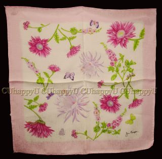 Jim Thompson Silk Scarf Sweet Pink Flower Scarf New