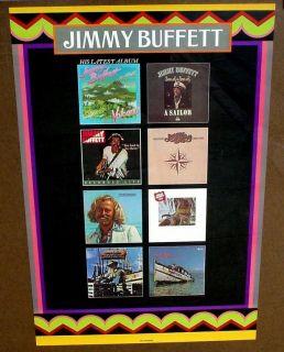 Jimmy Buffett 1979 Poster Mint Cond Beautiful Colors