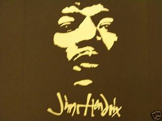 Jimmy Hendrix Rock Music Decals Stickers Vinyl