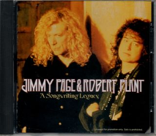 JIMMY PAGE ROBERT PLANT A SONGWRITING LEGACY Promo only CD LED