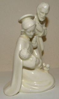 Vintage Goebel HX 252 White Nativity Mary Madonna, Baby Jesus, Joseph
