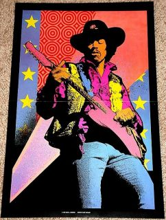 Jimi Hendrix Rock Guitar Legend Tribute Poster