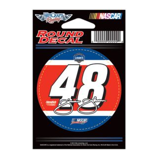 Jimmie Johnson 48 Red White Blue NASCAR Number 3 Round Decal 2012