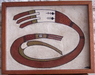 Vintage Sand Painting by Indian Artist Joe Morton