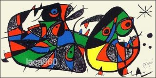 Joan Miro Spanish Escultor Italy Plate Signed Original Lithograph