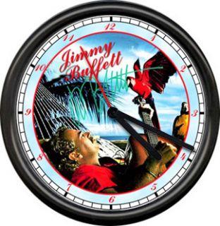 Jimmy Buffett Margaritaville Guitar Parrot Heads Parrothead Sign Wall