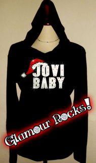 Bon Jovi Baby Christmas Rhinestone T Shirt Hoodie Tee
