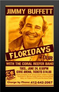 Jimmy Buffet Floridays Tour Concert Poster Nicely Framed Print RARE