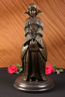 French Joan of Arc Catholic Bronze Marble Sculpture Art Figurine FREE