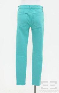 Joes Jeans Aqua Green Skinny Jeans Size 29