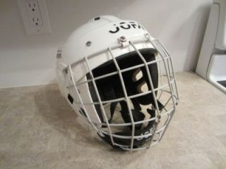 Vintage Jofa Hockey Helmet with Bubble Cage 390 SR 381 SR White