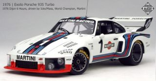 Exoto 1/18 Porsche 935 Turbo #1 World Champion, Martini 1976 Dijon