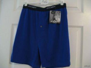 Jockey Mens Large Knit Boxer Short Underwear Blue
