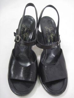 Joan Helpern Signature Black Leather Heels Shoes Sz 10
