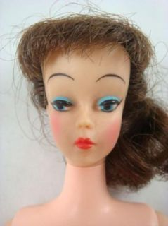 Vintage 1961 No 2 Ideal Toy Corp Mitzi Fashion Doll Brunette Ponytail