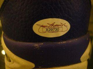 Karl Malone Signed Utah Jazz Game Used Shoes 32 JSA Full COA Free
