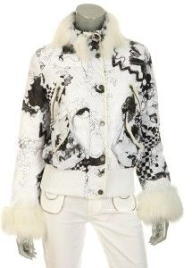 New Galliano Signature Ladies Stylish Fox Fur Puffer Jacket Parka 38 4