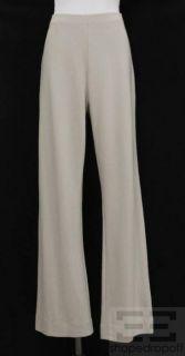 Joan Vass Sable Khaki Knit Bootcut Pants Size 2 New
