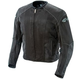 Joe Rocket Mens Black Motorcycle Riding Jacket Phoenix 5 0 Mesh M L