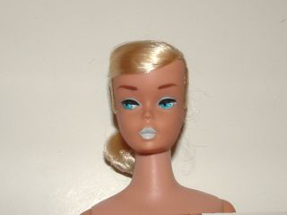 1960s Blonde Swirl Barbie Doll 977 Silken Flame Complete Booklet More