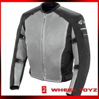 Joe Rocket Recon Mesh Jacket Gray Black Large New