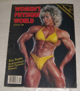 August 1985 Womens Physique World Bodybuilding Magazine Kay Baxter