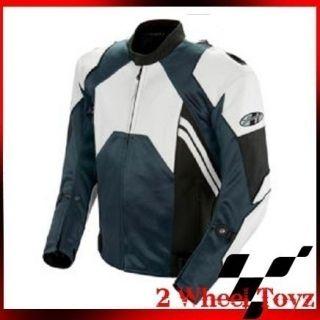 Joe Rocket Gunmetal White Leather Mesh Motorcycle Jacket US 46