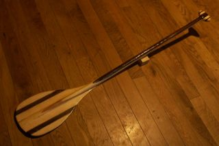 Joes Beautiful Bent Shaft Wood Fiberglass Canoe Paddle 23 ozs 53