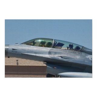 co pilot Luke Air Force Base flashes hang loose while landing